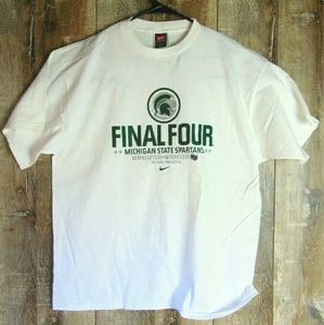 Nike 2001 Michigan State Final Four Graphic T L